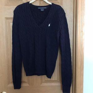 Ralph Lauren Sport cotton, cable knit V-neck!